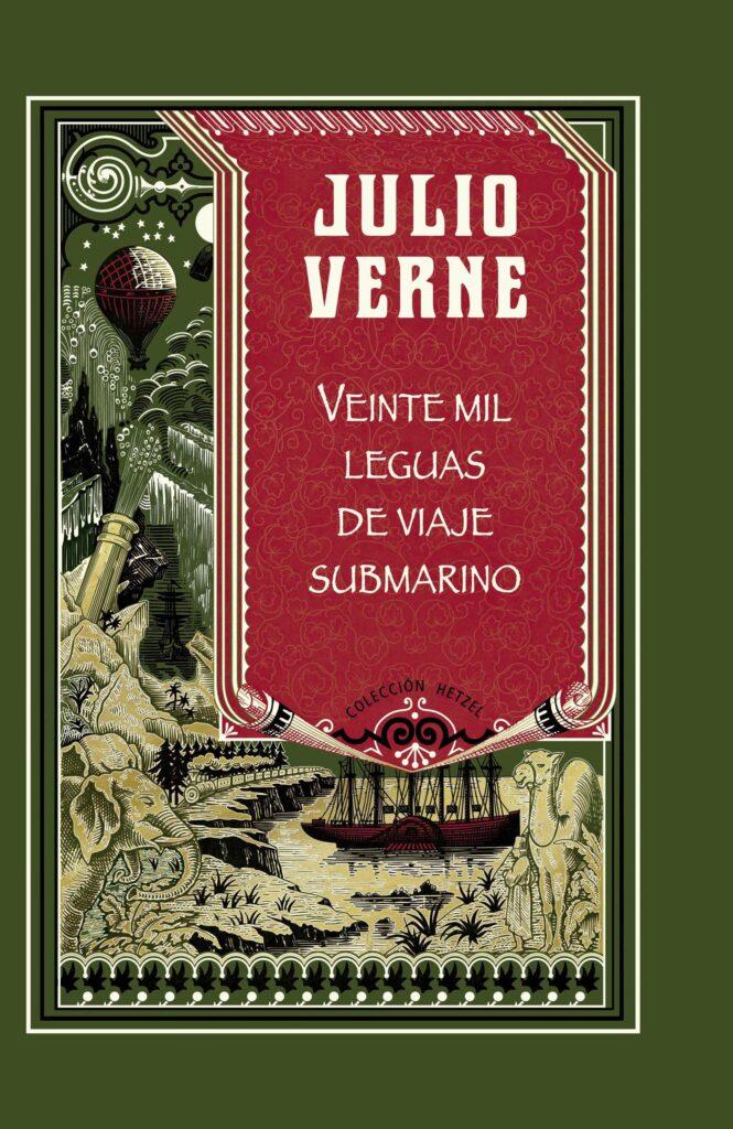 portada del libro 20000 leguas de viaje submarino